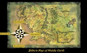 The Hobbit Map Cartoon Kirsty Cooks Bilbo U0027s Map Of Middle Earth There And