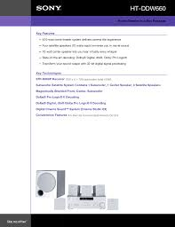 home theater in a box download free pdf for sony ht ddw660 home theater manual