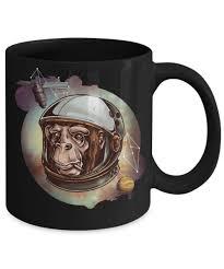 design coffee mug chimpanzee lover gift cosmic chimp funny watercolor design