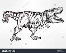 tyrannosaurus dinosaur highly detailed trex isolated stock vector