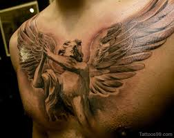 tattoo 3d design chest 10 awesome gargoyle chest tattoo images pictures and design ideas