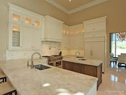 Crown Moulding Above Kitchen Cabinets Contemporary Kitchen With Inset Cabinets U0026 High Ceiling In Palm