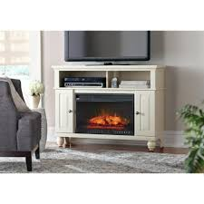 tv stand ergonomic media console electric fireplace in chestnut