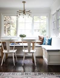 l shaped dining table wainscoted window seat banquette transitional dining room l shaped