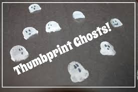 three ghost friends easy thumbprint ghost craft other halloween