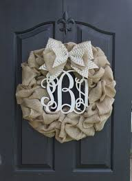 best 25 burlap wreath monogram ideas on front door