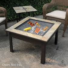 coffee table with cooler leisurelife 30 5 in 1 square coffee table side table fire pit