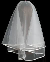 holy communion veils communion veil ultra soft white satin ribbon edge rainbow