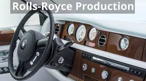 roll royce leather rolls royce bespoke serenity phantom production youtube