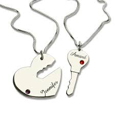 key to my heart gifts gifts for him key to my heart name pendant set for