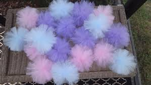 tulle decorations hanging pom pom medium 8 poms tulle decorations