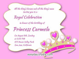 words for birthday invitation princess birthday invitation words orderecigsjuice info