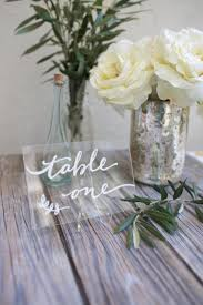 wedding table number fonts acrylic plexiglass table numbers or names size 4 x 6 clear or