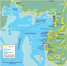 map of suva city royal suva yacht club rsyc fiji shores and marinas