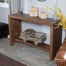 Wooden Console Table Belham Living Brinfield Rustic Console Table Hayneedle