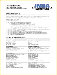 resume career summary sap architect resume free resume example and writing download career objectives template resume examples job objectives for image