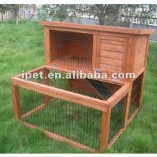 Rabbit Hutch With Large Run Newest 3ft 2 Tier Outdoor Wooden Rabbit Hutch With Wood Floor