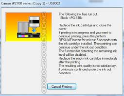 cara reset printer canon ip2770 lu kedap kedip bergantian printer canon ip2770 cara mengatasi the following ink has run out