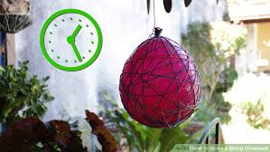 how to make a string ornament 11 steps with pictures wikihow
