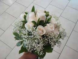 White Rose Bouquet White Roses Wedding Bouquet Diy Demo Youtube
