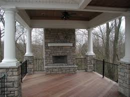 covered patio with fireplace covered porch with stone fireplace