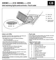 cassette air conditioner fault codes