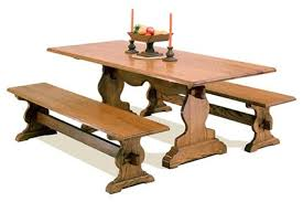 trestle dining table with bench amish dining room trestle tables with regard to trestle dining