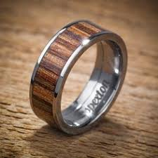 mens wedding bands wood titanium wood wedding band applewood men s ring by spexton on etsy