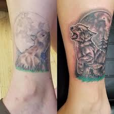 altered images tattoos nature wolf howling at the moon
