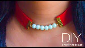 how to make a choker necklace diy pearl choker beads art youtube