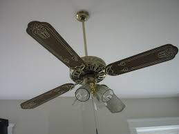 painted ceiling fan blades ideas