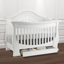 White Convertible Baby Cribs by Eco Chic Baby Dorchester Curved 4 In 1 Convertible Crib With