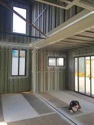 the steelwork is complete for my shipping container house the
