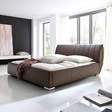 Schlafzimmer Bett Mit Matratze Polsterbett Luna Kunstleder Home24