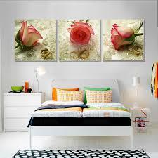 Aliexpress Home Decor Aliexpress Com Buy 3 Piece Canvas Art Home Decor Rose Flower
