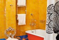 bathroom blue and yellow pictures designs delectable grey three