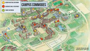 Amherst College Map Ithaca College Students Seek Out Gender Neutral Bathrooms The