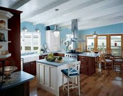 kitchen excellent maple kitchen cabinets and blue wall color