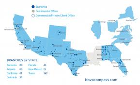 map of usa with compass bbva compass investor relations company profile