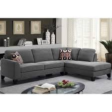 Chenille Sectional Sofa Porter Monza Grey Chenille Sectional Sofa With Optional Geometric