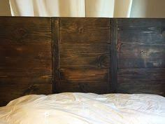 Rustic Queen Headboard by A Handmade Simplistic Wood Headboard Choose 3 Color Finishes For