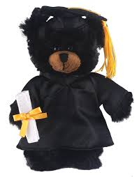 personalized graduation teddy with me plush black 8 with personalized black