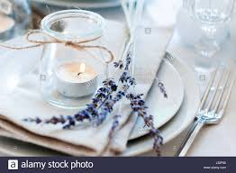 provence style dining table setting at provence style with candles lavender