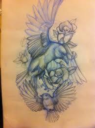 tattoo sketch flying free birds tattoomagz