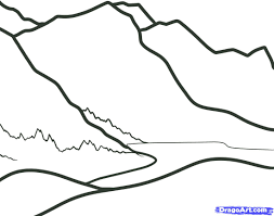 draw mountains kids step step landscapes