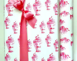chinoiserie wrapping paper pink wrapping paper etsy