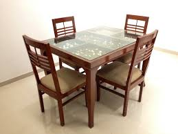 Glass Table Wooden Legs Creditrestoreus - Glass top dining table montreal