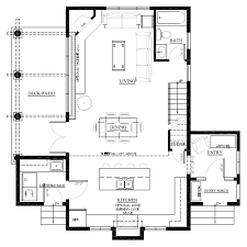 loft cabin floor plans like the layout for the kitchen dining living area the sinda