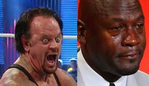 Undertaker Meme - laughing undertaker vs crying mj memes will be a big part of