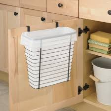 kitchen stunning large trash can rubbermaid garbage wood double